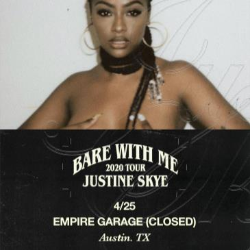 Justine Skye: Bare With Me 2020 Tour (Postponed: TBA)-img