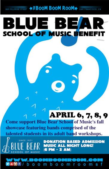 *POSTPONED*  - Blue Bear School Of Music Benefit: Main Image