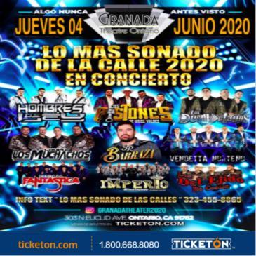 LOS MAS SONADO DE LA CALLE 2020 EN CONCIERTO: Main Image