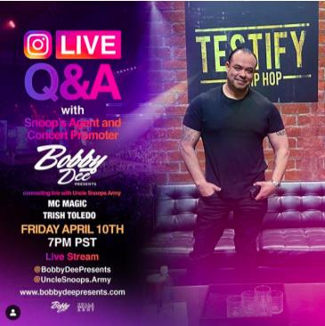 LIVE - BOBBY DEE PRESENTS ONLINE: Main Image