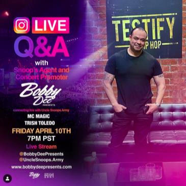 LIVE - BOBBY DEE PRESENTS ONLINE
