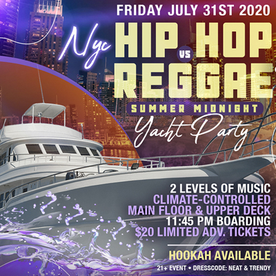 NYC Cruise Party at Skyport Marina Cabana Yacht Friday July 31st, 2020 Tickets Party | GametightNY.com