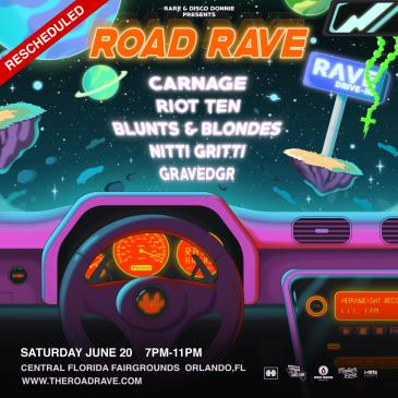 RARE ROAD RAVE FT. CARNAGE - ORLANDO - CANCELLED: Main Image