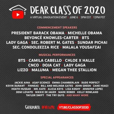 LIVE -DEAR CLASS OF 2020