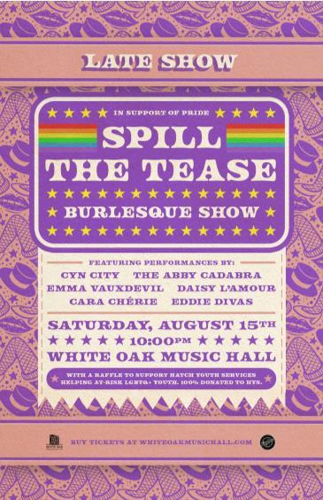 Spill the Tease Burlesque feat: Cyn City, Cara Chèrie & more: Main Image