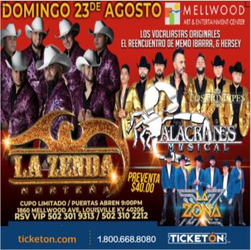 CANCELED LA ZENDA NORTENA & ALACRANES MUSICAL: Main Image