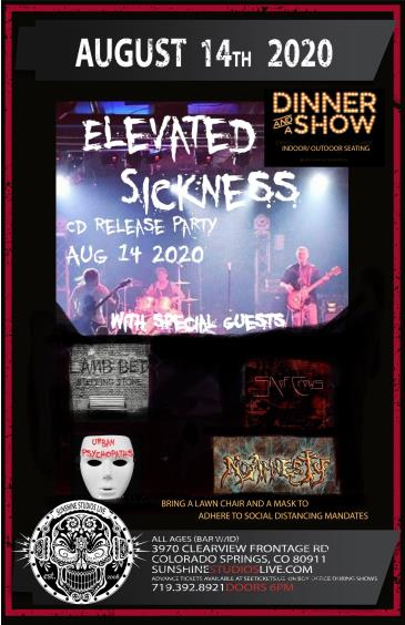 Elevated Sickness CD Release Dinner Show: Main Image