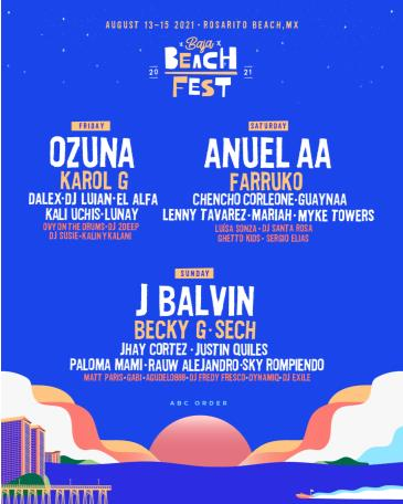 Baja Beach Fest 2021: Main Image