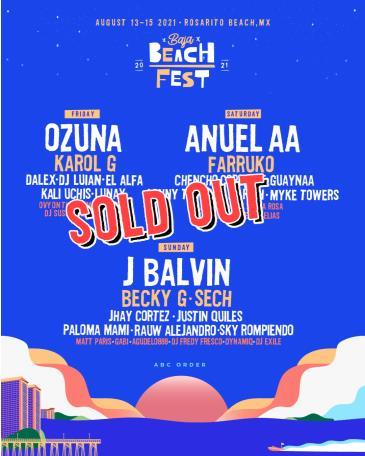 Baja Beach Fest 2021 Weekend 1: Main Image