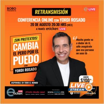 RETRANSMISION CONFERENCIA ONLINE CON YORDI ROSADO: Main Image