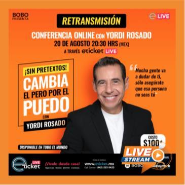 RETRANSMISION CONFERENCIA ONLINE CON YORDI ROSADO