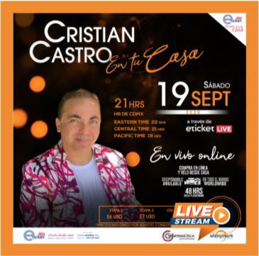 CRISTIAN CASTRO...EN TU CASA: Main Image