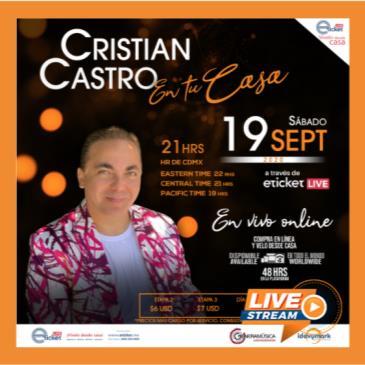 CRISTIAN CASTRO...EN TU CASA