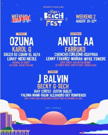 Baja Beach Fest 2021 Weekend 2: Main Image