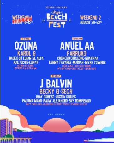 Baja Beach Fest 2021 Weekend 2: Main Image