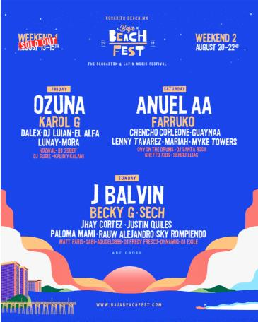 Baja Beach Fest 2021 Weekend 2: