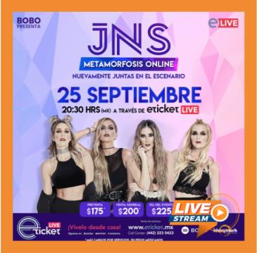 JNS METAMORFOSIS TOUR SHOW ONLINE: Main Image