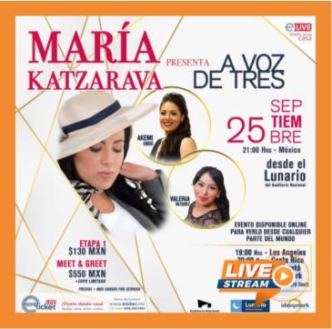 MARÍA KATZARAVA PRESENTA: A VOZ DE TRES: Main Image
