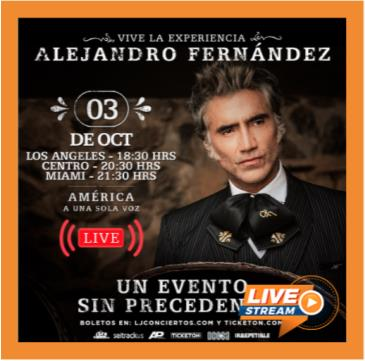 ALEJANDRO FERNANDEZ LIVE STREAMING: Main Image