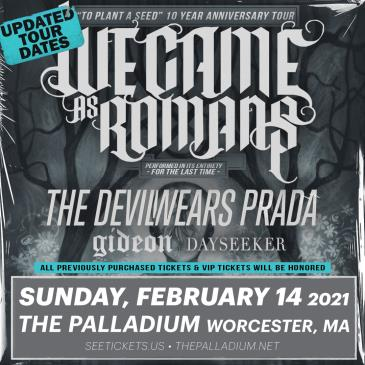 WE CAME AS ROMANS - TO PLANT A SEED 10 YEAR ANNIVERSARY TOUR: Main Image