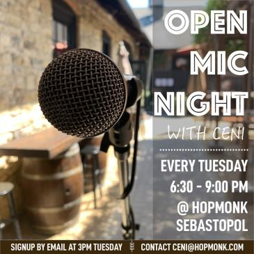 Open Mic w/ Ceni In the Beergarden-img
