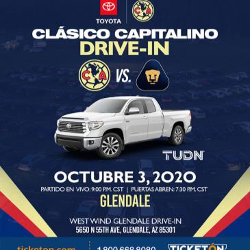 AMERICA VS PUMAS DRIVE-IN VIEWING EVENT - PHOENIX