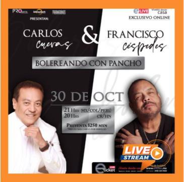 CARLOS CUEVAS Y FRANCISCO CÉSPEDES BOLEREANDO CON PANCHO: Main Image
