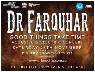 DR Farquhar 'Good things take time' - Fully seated 18+ event: Main Image