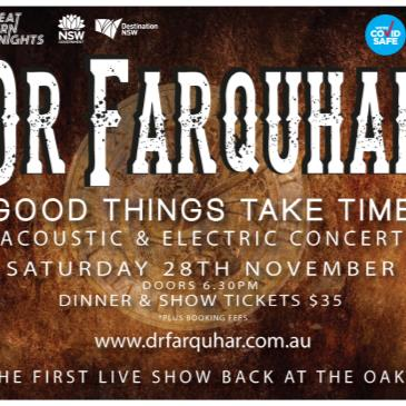 DR Farquhar 'Good things take time' - Fully seated 18+ event-img