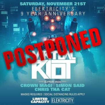 9 YEAR ANNIVERSARY W/ VIRTUAL RIOT - Postponed to TBA: Main Image