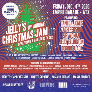 Jelly's 8th Annual Christmas Jam Benefiting #SaveOurStages: