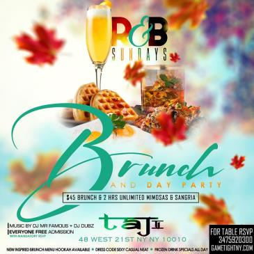 Taj Lounge R&B Sunday Funday Brunch Party & Day Party-img