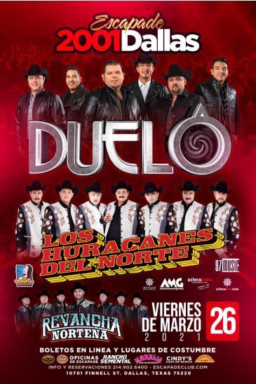 LOS HURACANES , DUELO , DALLAS TX: Main Image