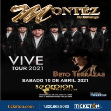 VIVE TOUR 2021 MONTEZ DE DURANGO & BETO TERRAZAS