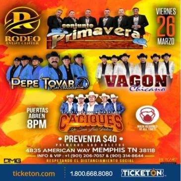 CONJUNTO PRIMAVERA , PEPE TOVAR , VAGON CHICANO, CACIQUES: Main Image