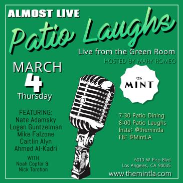 Patio Laughs- Comedy Livestream from The Green Room: Main Image