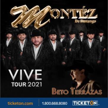 VIVE TOUR 2021 MONTEZ DE DURANGO Y BETO TERRAZAS