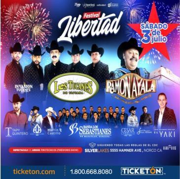 FESTIVAL LIBERTAD CON LOS TUCANES , RAMON AYALA Y AMIGOS!: Main Image