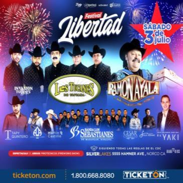 FESTIVAL LIBERTAD CON LOS TUCANES , RAMON AYALA Y AMIGOS!