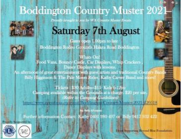 Boddington Country Muster 2021: Main Image