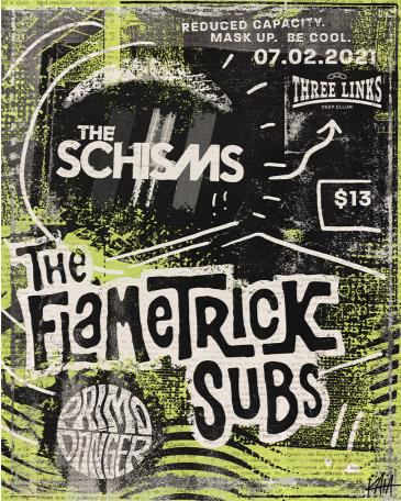 The Flametrick Subs, The Schisms, Primo Danger: Main Image