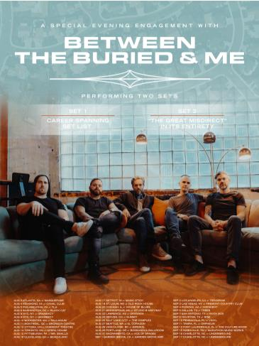 NEW DATE - Between the Buried and Me: Main Image