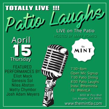 Patio Laughs Comedy Live - with Open Mic!: Main Image