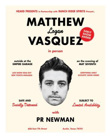 Matthew Logan Vasquez w/ PR Newman: solo acoustic EARLY SHOW: Main Image