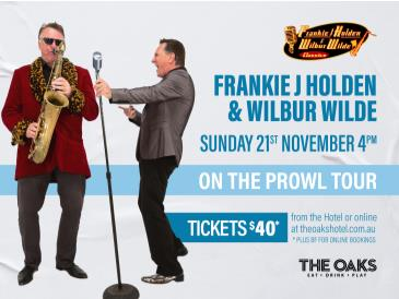 Frankie J Holden & Wilbur Wilde - ON THE PROWL TOUR: Main Image