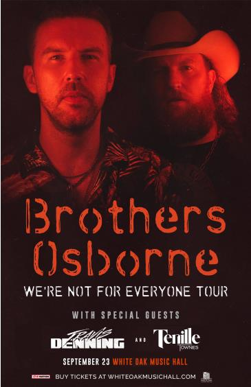 CANCELLED - Brothers Osborne: We're Not For Everyone Tour: