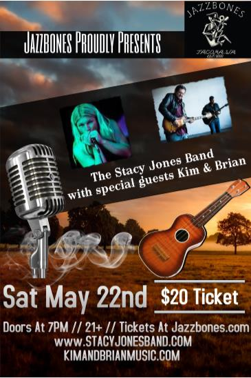 The Stacy Jones Band with special guest Kim and Brian: Main Image