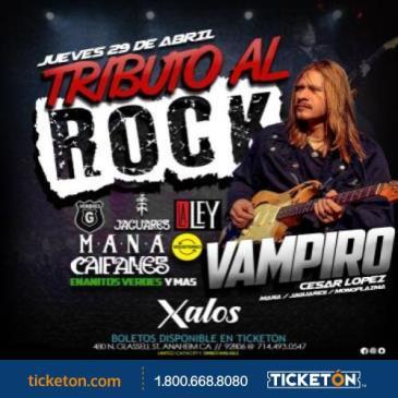 TRIBUTO A EL ROCK CON VAMIPIRO
