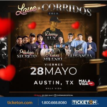 LOVE Y CORRIDOS TOUR 2021 EN AUSTIN: Main Image