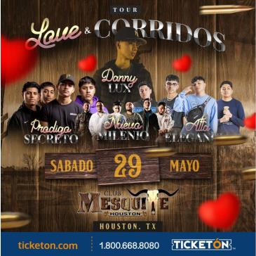 LOVE Y CORRIDOS TOUR 2021 EN HOUSTON: Main Image